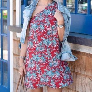 LOFT One Shoulder Floral Dress S